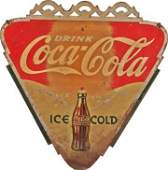Coca Cola Double-Sided Triangular Tin Sign.