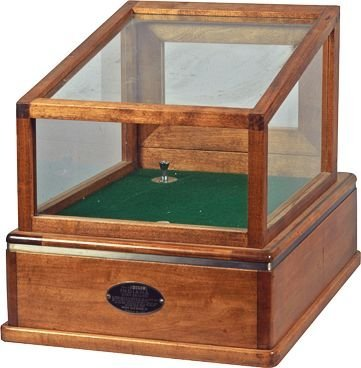 Early Indiana Cash Drawer Wood & Glass Display Case.