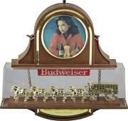 Budweiser Light-Up Hanging Advertisement Sign.