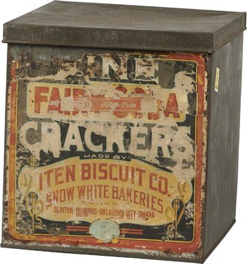 "Iten Biscuit Co. ""Fine Fairy Soda Crackers"" Tin."