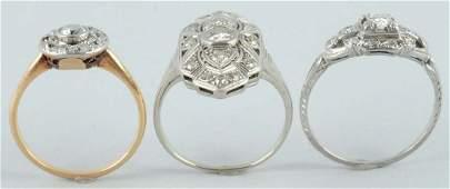 Lot of 3 Diamond Rings