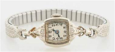 14K WG Ladies Bulova Wristwatch