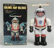 Tin Litho Colonel Hap Hazard Astronaut Toy.