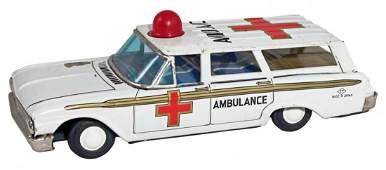 1962 Ford Galaxie Station Wagon Ambulance.