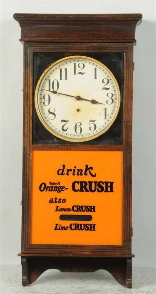 Orange Crush Wooden Wall Clock