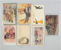 Lot of 48 Assorted Postcards Tuck Western Comic