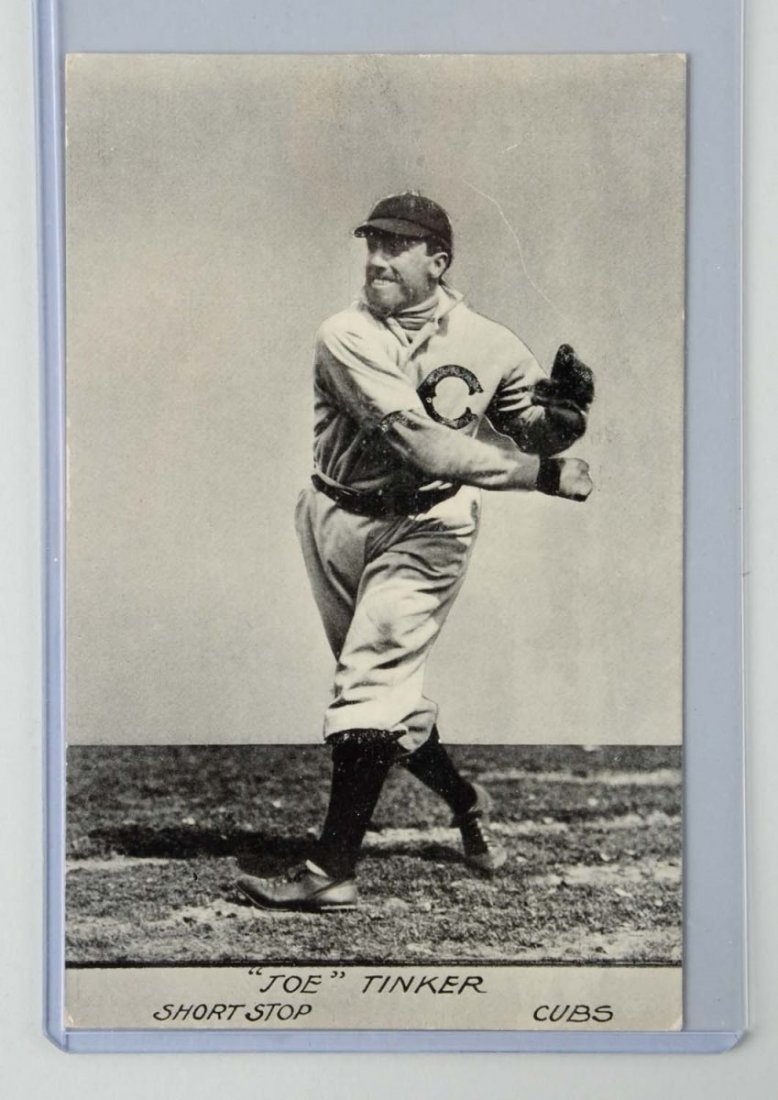 Joe Tinker Baseball Postcard.