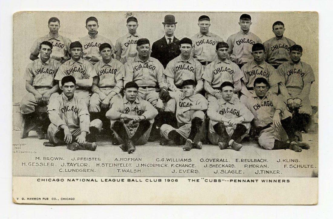 1906 Chicago Cubs Team Baseball Postcard.