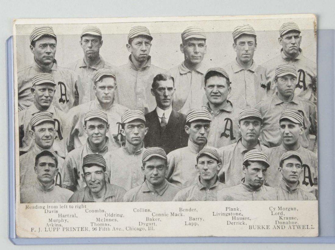 1910 Philadelphia Athletics Baseball Postcard.
