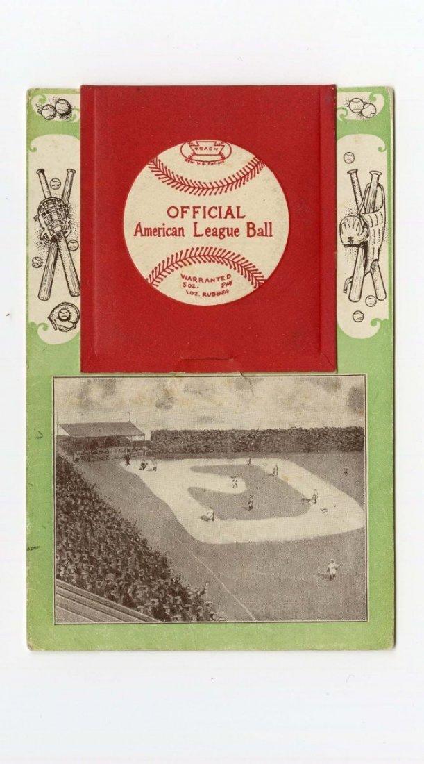 1908 St. Louis Browns Foldout Baseball Postcard.
