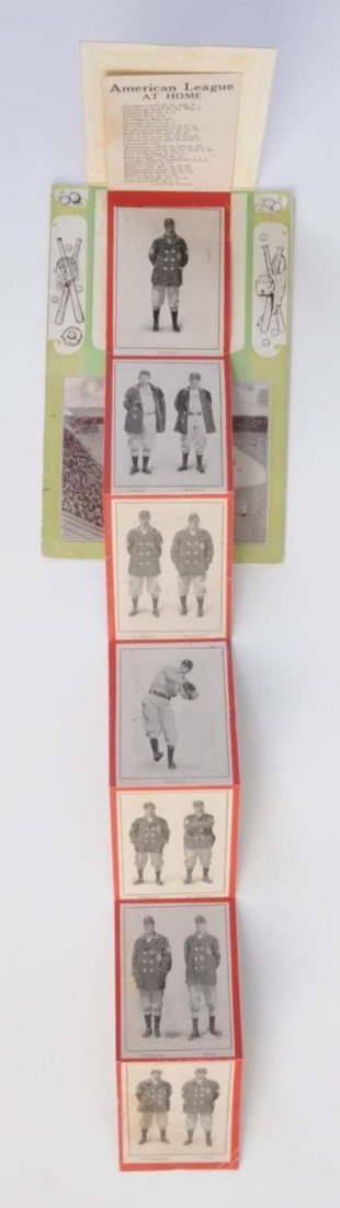 1908 St. Louis Browns Foldout Baseball Postcard. - 2