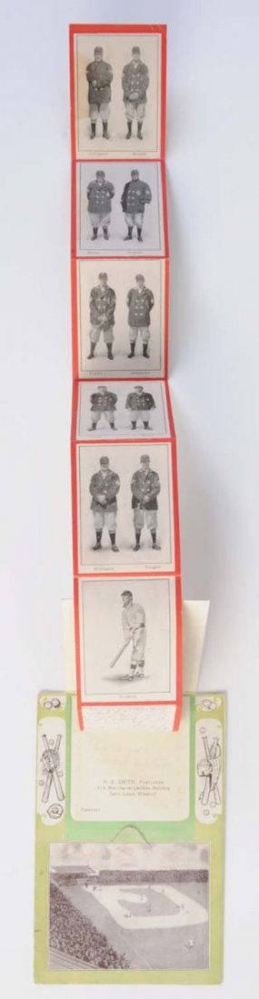1908 St. Louis Browns Foldout Baseball Postcard. - 3