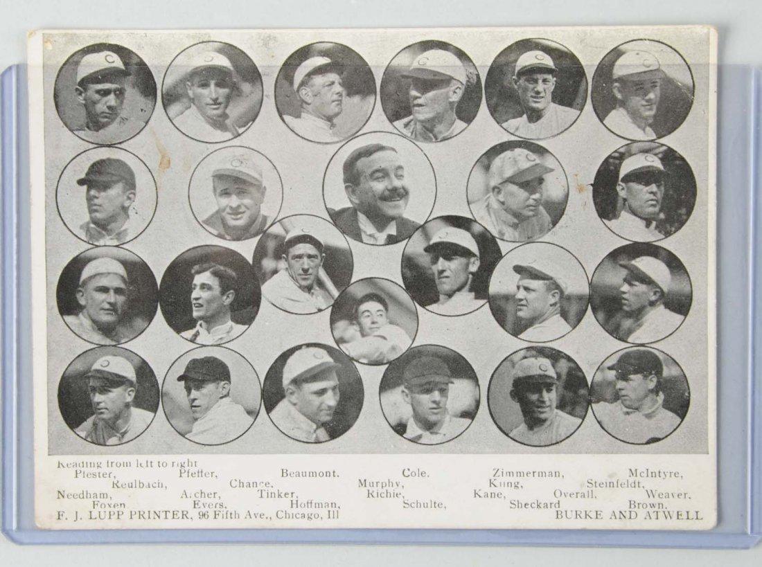 1910 Chicago Cubs Baseball Postcard.