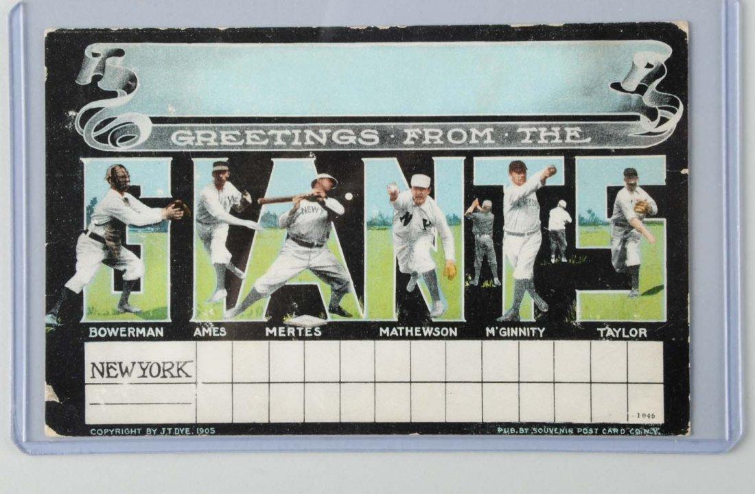 1905 New York Giants Scorecard Postcard.