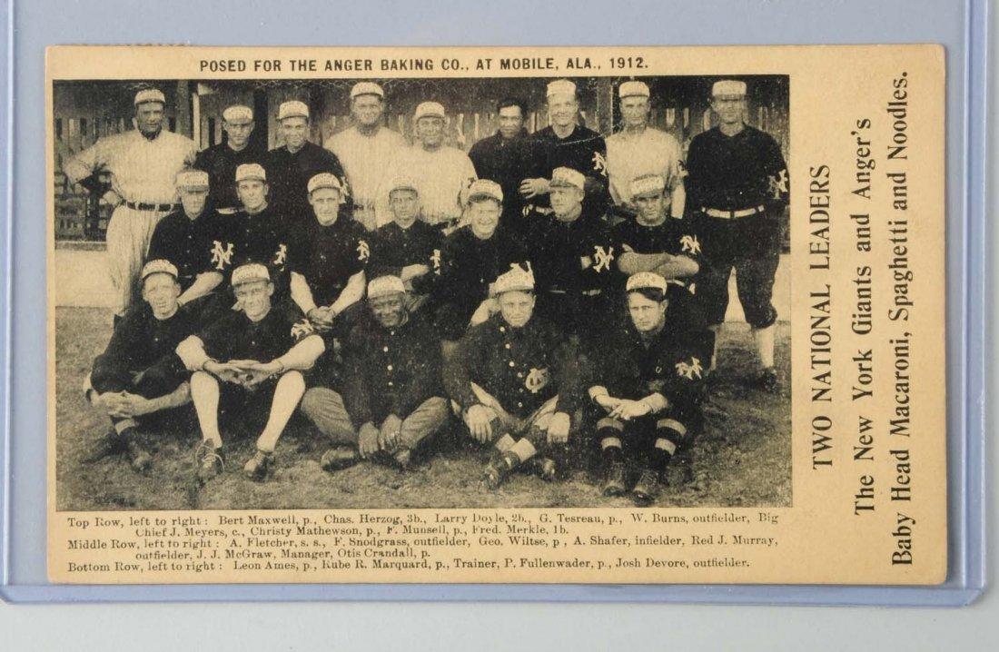 1912 New York Giants Baseball Team Postcard.