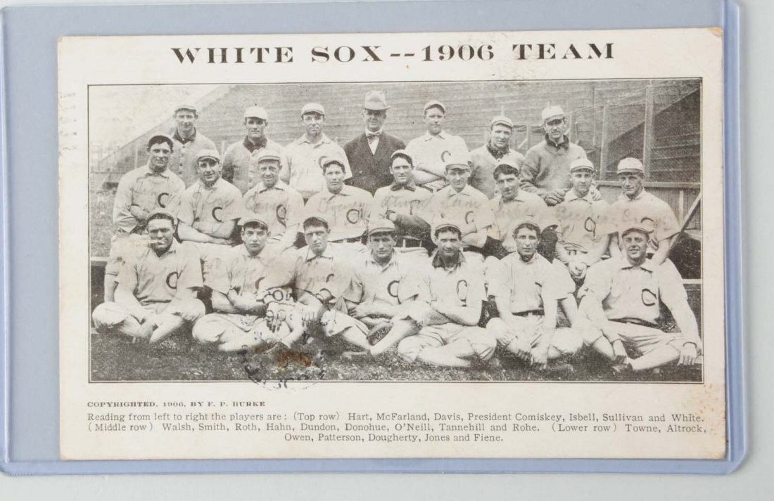 1906 Chicago White Sox Baseball Postcard.