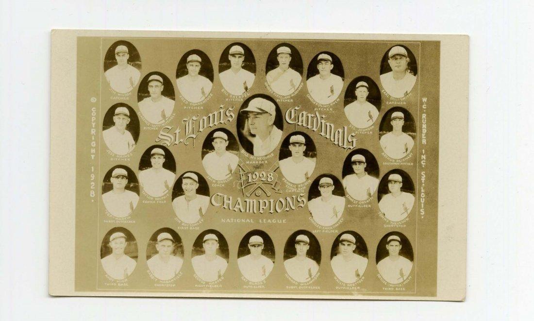 1928 St. Louis Cardinals Real Photo Postcard.