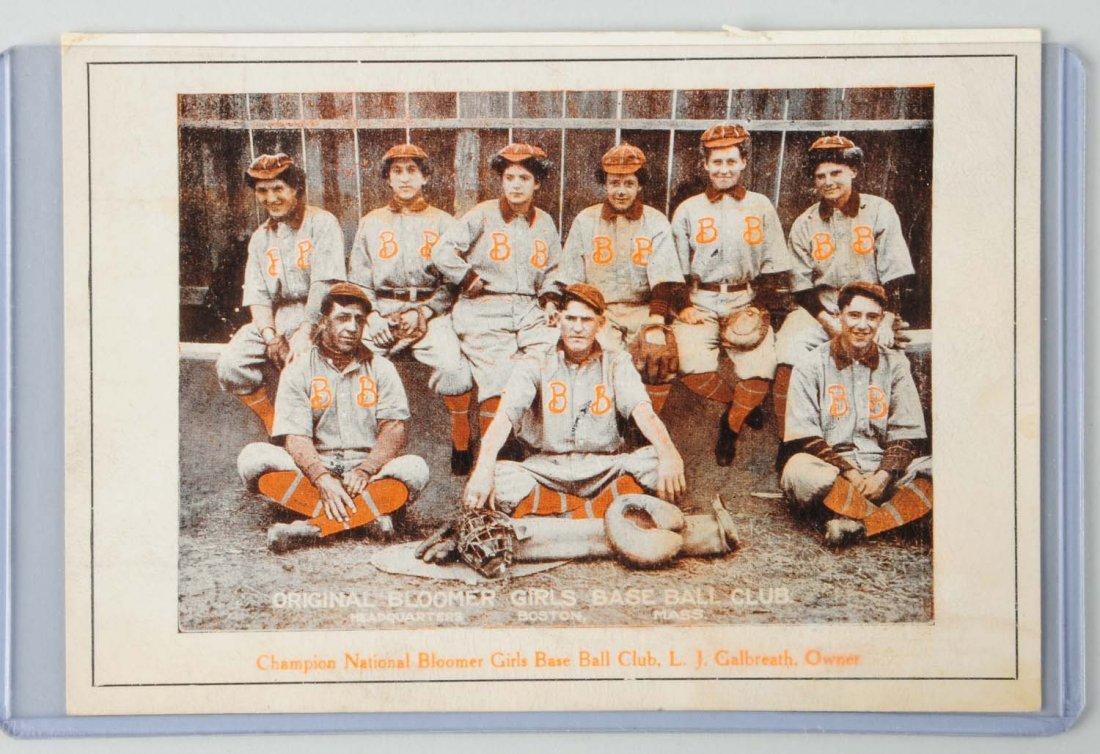 C. 1910 Champion Bloomer Girls Baseball Postcard.