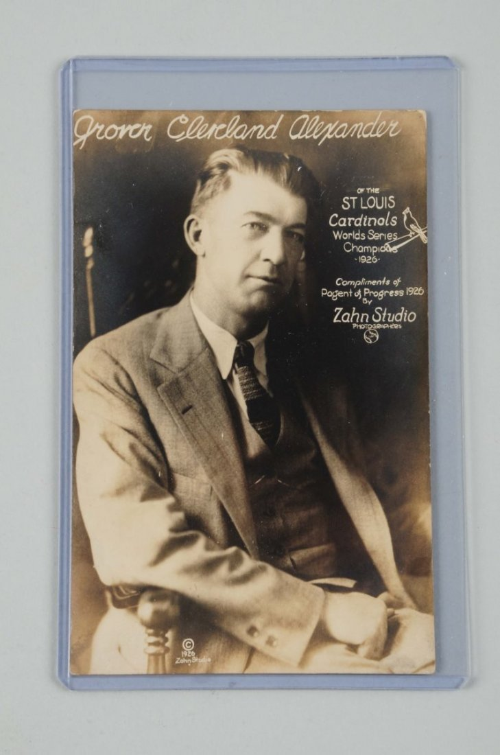 1926 Grover Cleveland Alexander Photo Postcard.