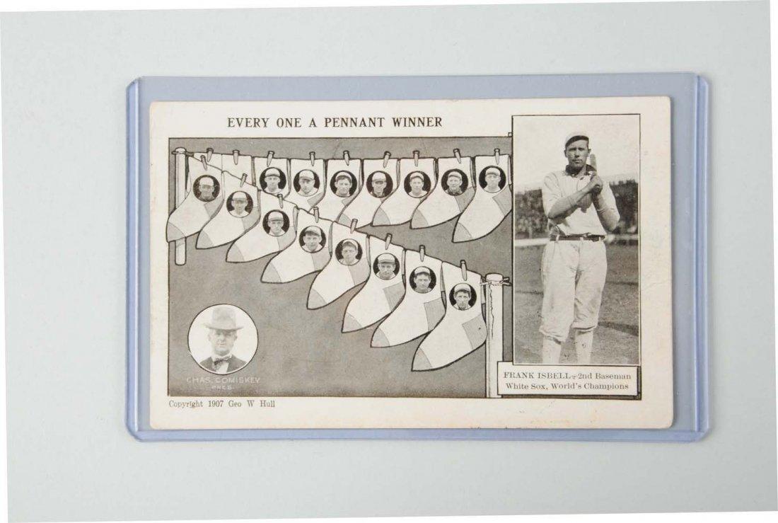 1907 Frank Isbell Baseball Postcard.
