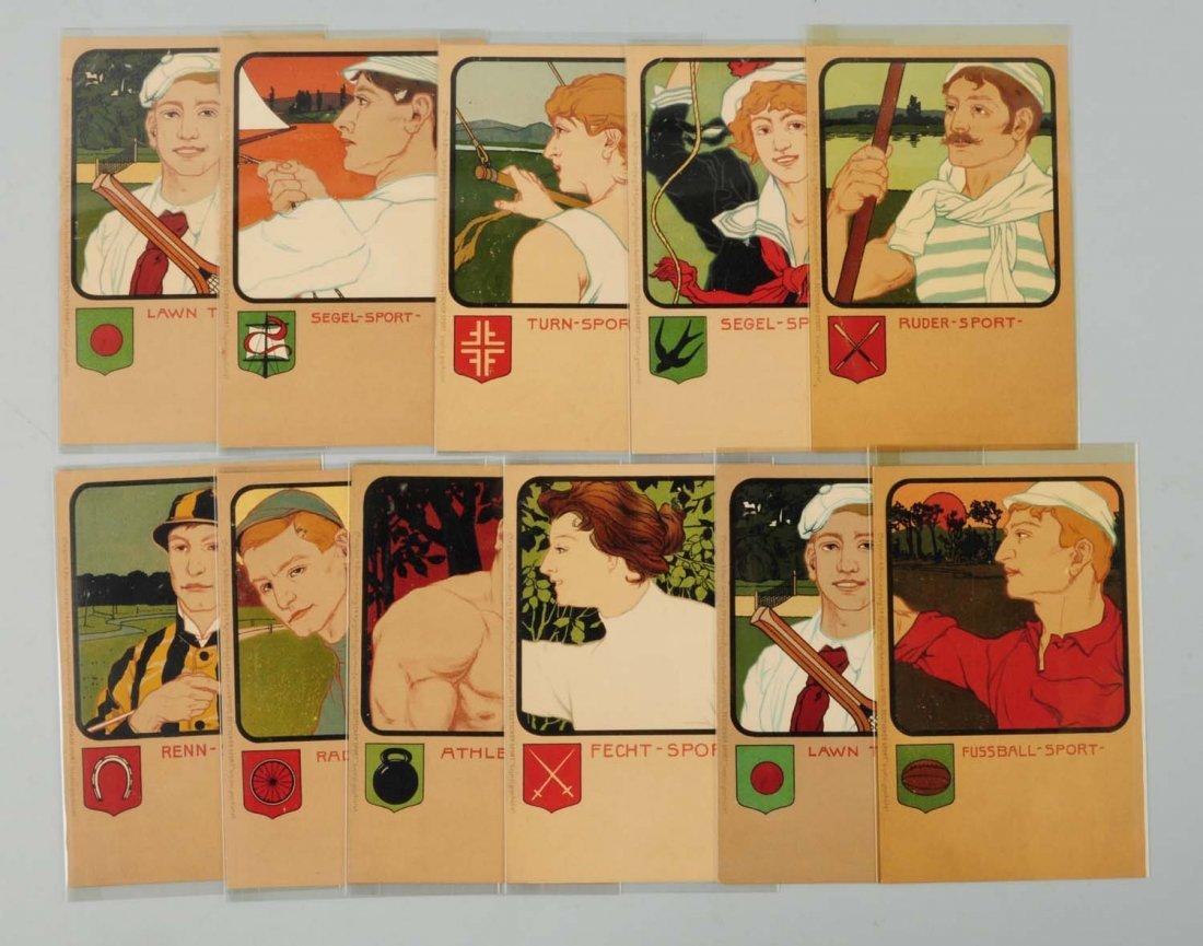 Lot of 11: Sports Cards. Art Nouveau.