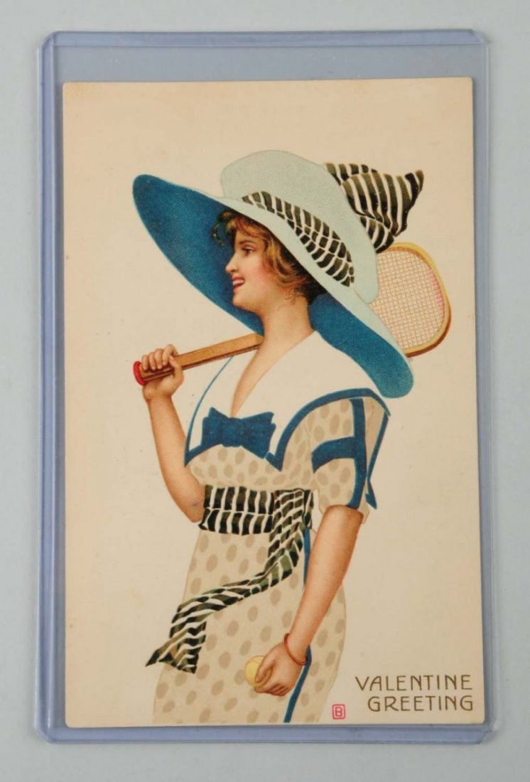 Tennis Postcard - Tuck Poster Girl.