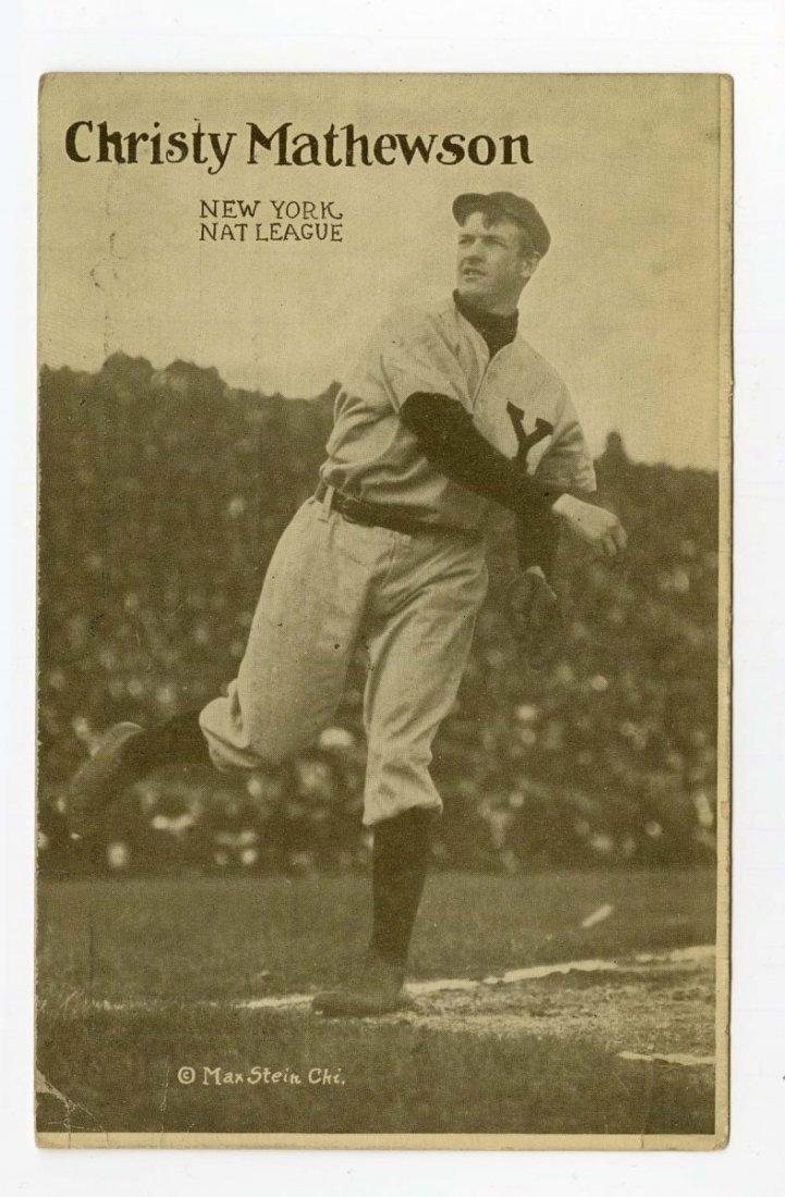 Circa 1908 Christy Mathewson Baseball Postcard.