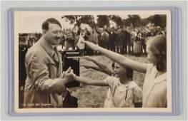 Adolf Hitler  Children Hoffman Photo Postcard