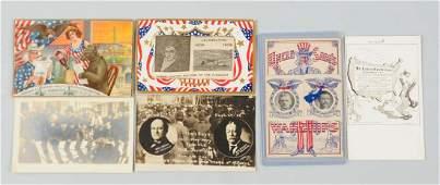 Lot of 6: Political Postcards.