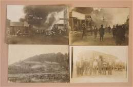 Lot of 4 Oil Field Real Photo Postcards