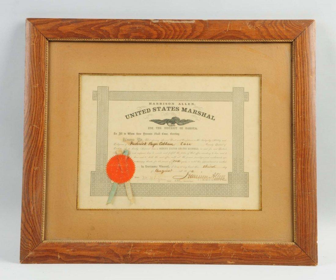 American Arms Shotgun & U.S. Marshall Appointment