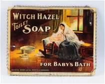 Glass Witch Hazel Soap Advertising Sign.