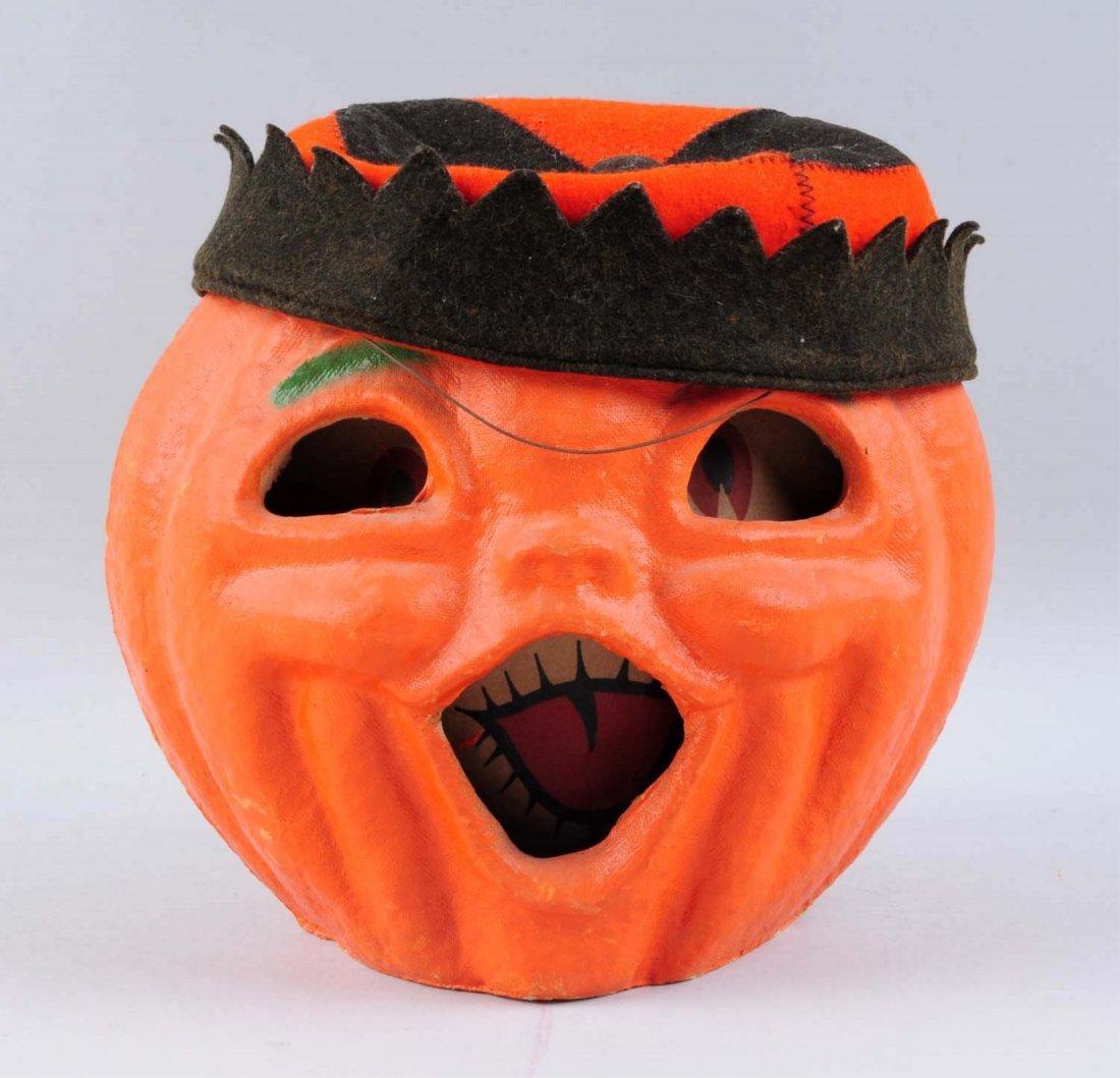 2-Faced Paper Mache Pumpklin Head.