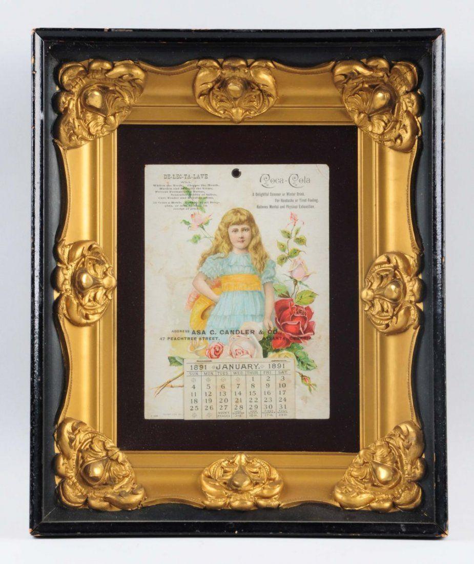 Only Known 1891 Coca - Cola Calendar.
