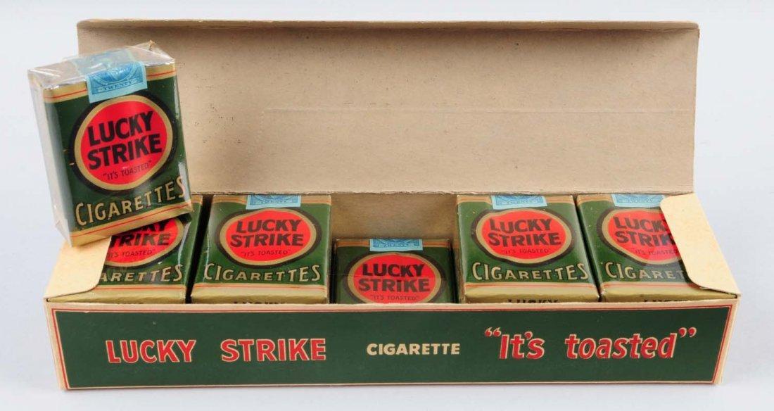 Full CArton of 1950s Lucky Strike Cigarettes.