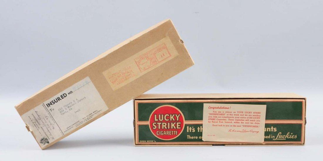 Full CArton of 1950s Lucky Strike Cigarettes. - 2