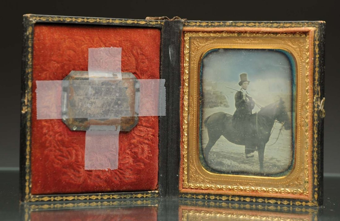 Daguerreotype of J. Young on Horse.