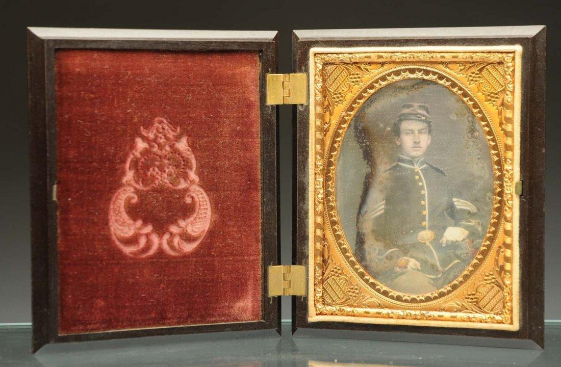 Daguerreotype of Young Civil War Soldier.