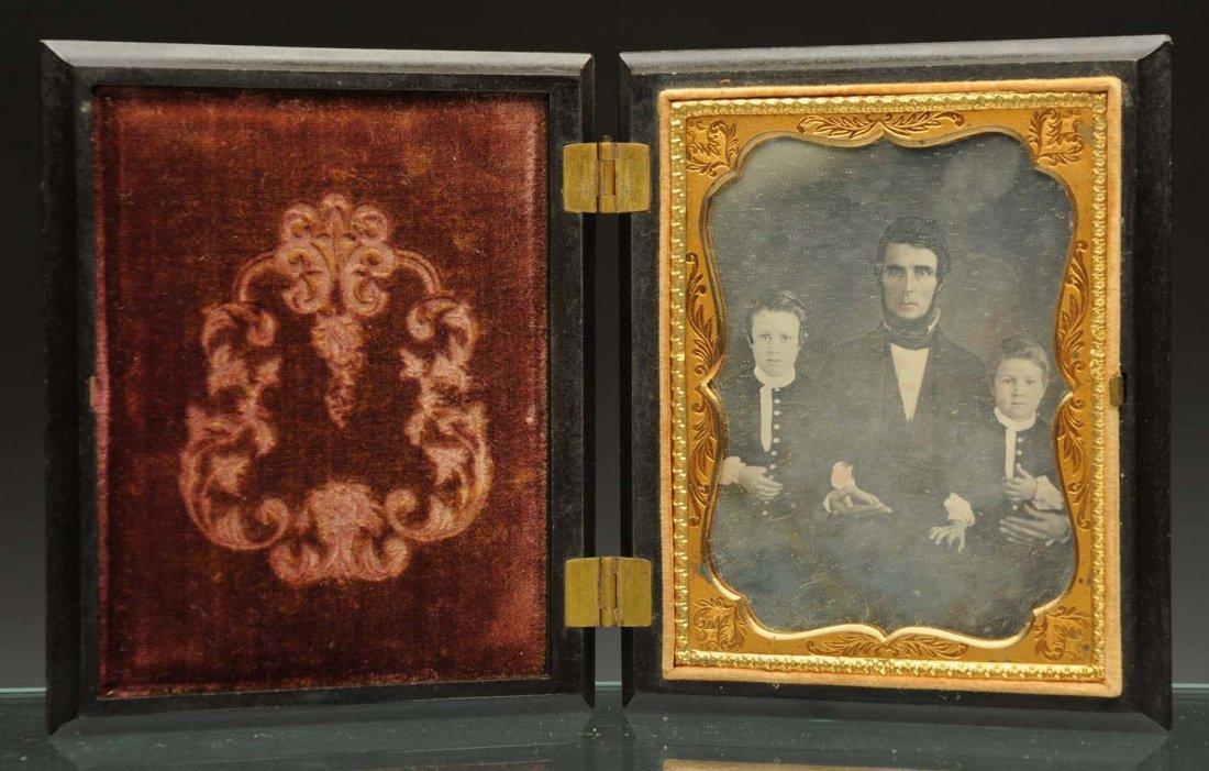 Daguerreotype of Father & 2 Boys.