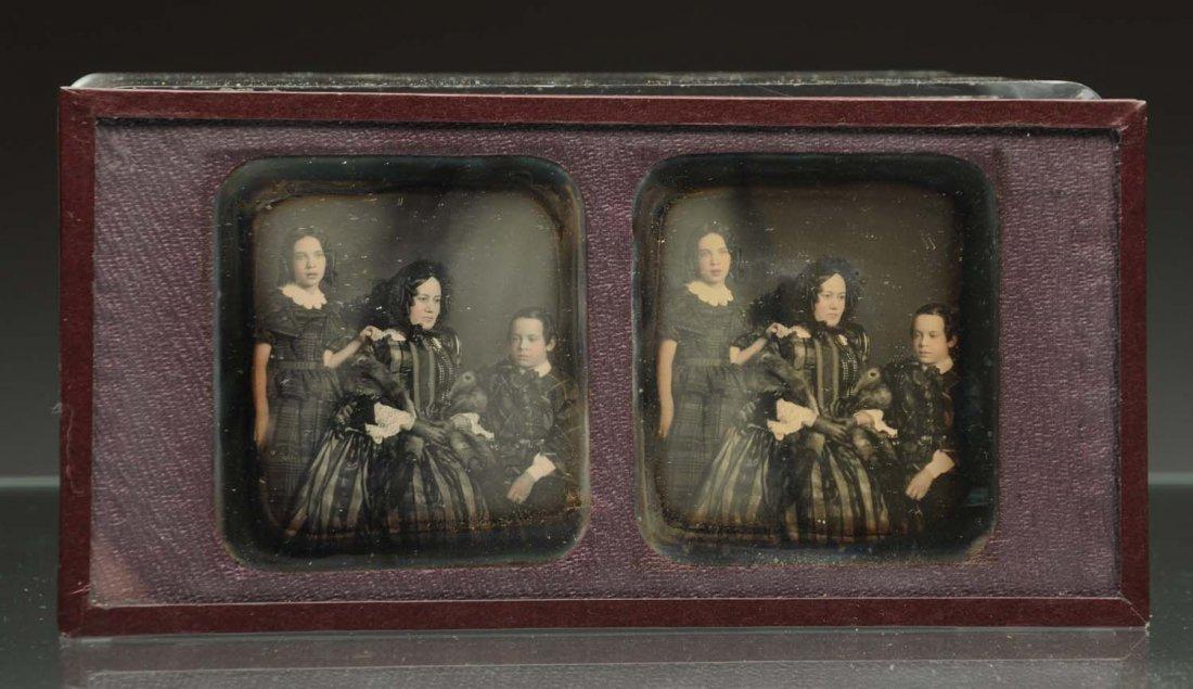 Daguerreotype Stereoscope of Family Portrait.