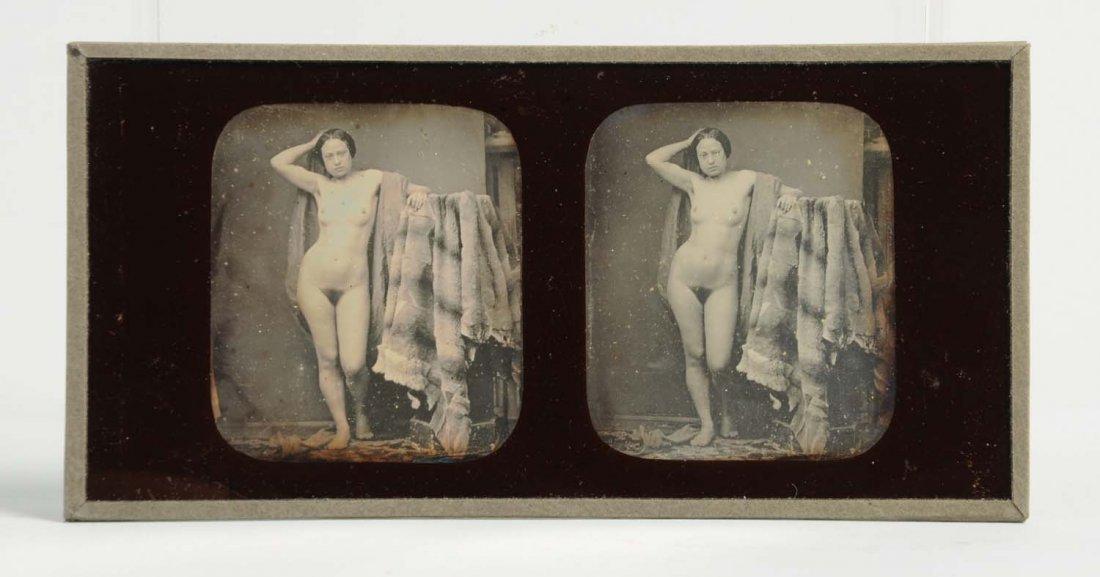 Daguerreotype Stereoscope of Nude Woman. - 2