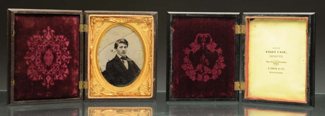 Lot of 2: Thermoplastic Daguerreotype Cases.