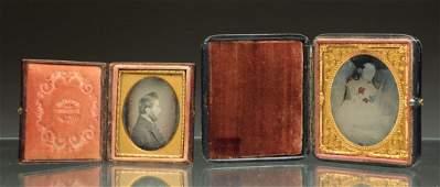 Lot of 2 Ambrotype  Daguerreotype