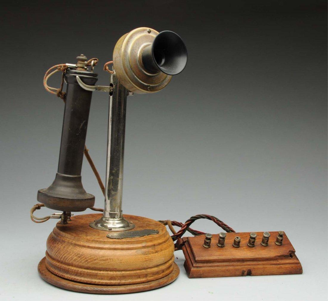 1898 Chicago Telephone Supply Co. Desk Set.