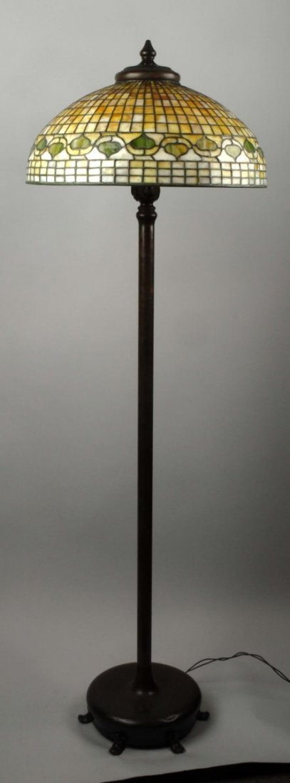 Reverse Tiffany Acorn Floor Lamp.