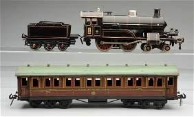 German Bing 1 Gauge Pre-War Passenger Train Set.