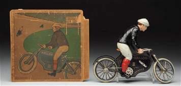 German Lehmann Halloh Motorcycle Toy.