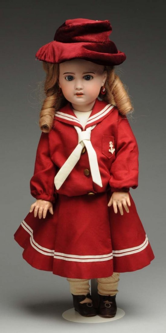 Winsome French Bisque Bébé Doll.