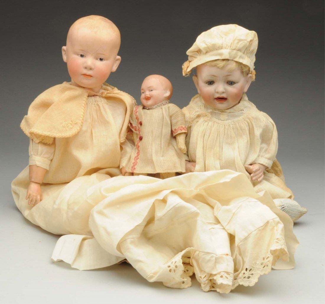 Lot of 3: German Bisque Dolls.