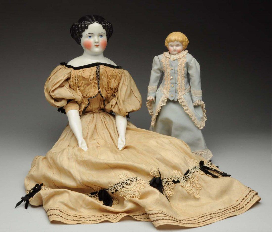 Lot of 2: German Antique Dolls.